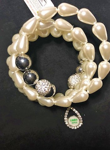 Beautiful LINKS Pearl Bracelet of Friendship