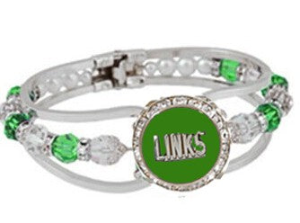 Beautiful LINKS Emerald Friendship Bracelet, (NEW)