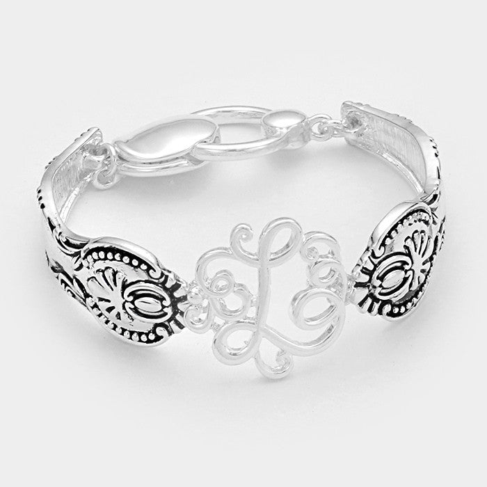 "Beautiful ""L"" Monogram Bracelet"
