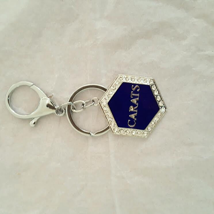Beautiful CARATS Crystal Purse Charm or Key Chain