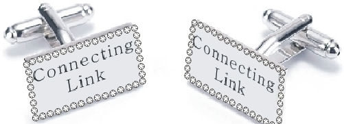 """CONNECTING LINKS"" Crystal Cufflinks  (NEW)"