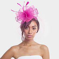 Beautiful High End Feather with Flowers/Veil Fascinators