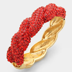 "Beautiful ""GO RED"" Crystal Pave Bracelet (NEW ""GO RED"" Collection)"