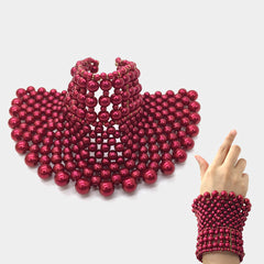 Beautiful GO RED Wide Pearl Bracelet (NEW GO RED Collection)