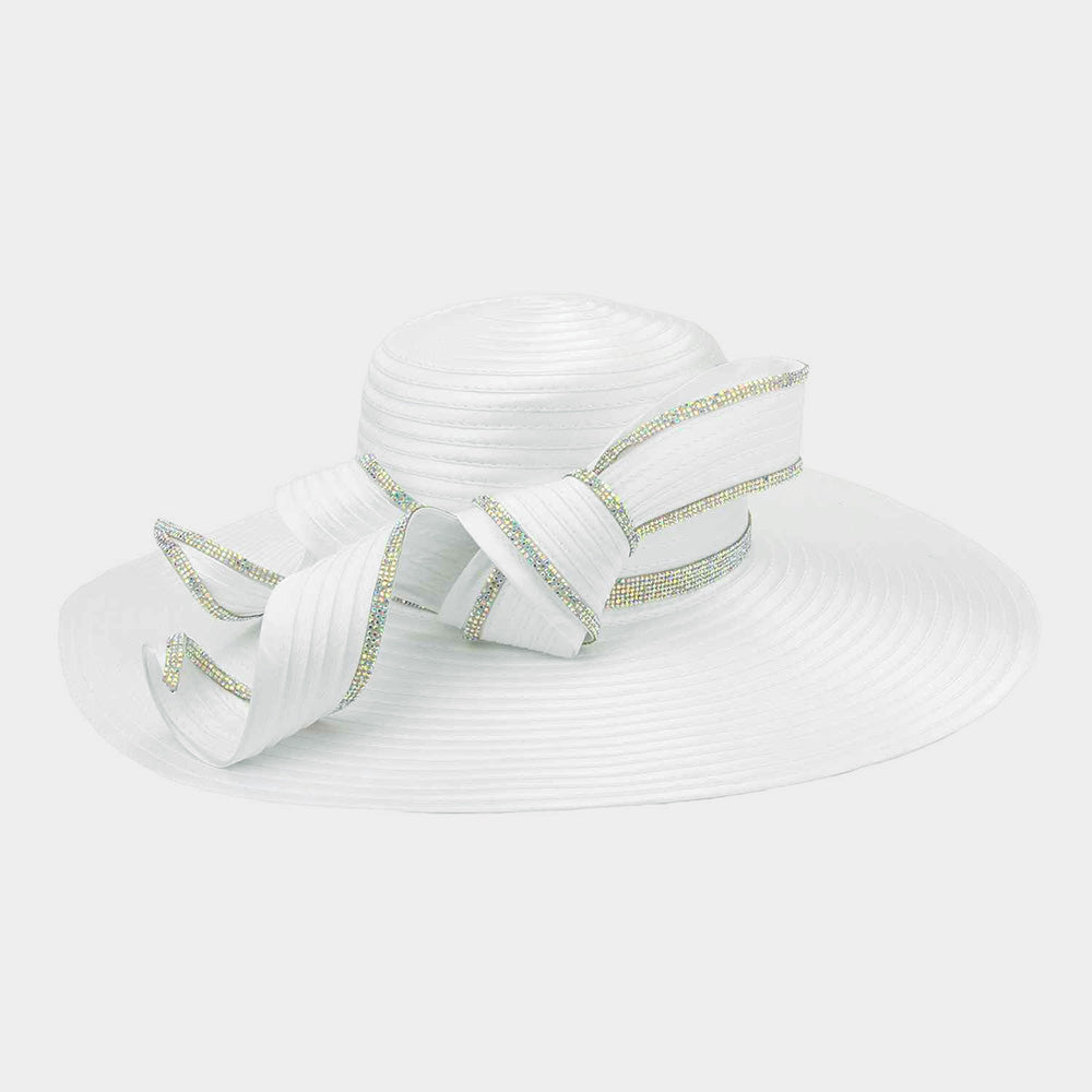 Beautiful Designer WHITE Curled Braid Hat (New)