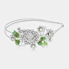 Beautiful Heir-O-Link Crystal Rose Headband