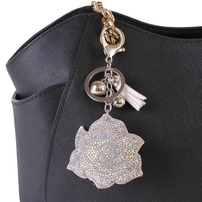 Beautiful Crystal Rose Keychain