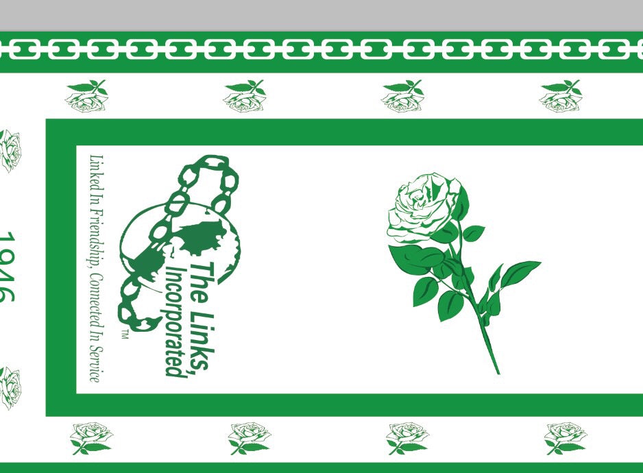 Beautiful LINKS White Rose of Elegance Scarf, In-Stock