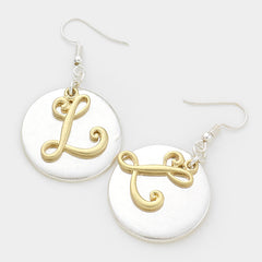 "Beautiful ""L"" Earrings"