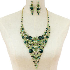 Green Crystal Necklace Set