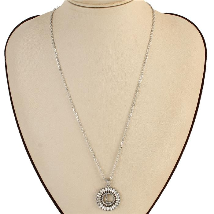 "Beautiful ""L"" Rhinestone Necklace (New)"