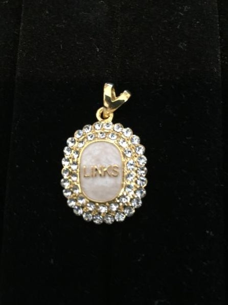 Links Amazing Mother of Pearl Pendant with Crystals