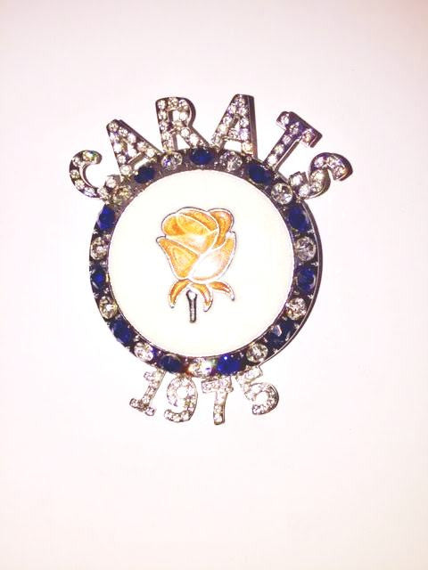 CARATS Rose Crystal Pin