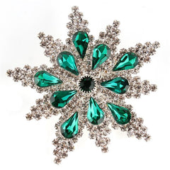 Christmas Crystal Star Brooch Pin