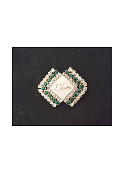 Beautiful LINKS Austrian Crystal Diamond of Excellence Pin (NEW)