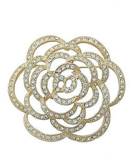 Beautiful Crystal Rose Brooch Pin