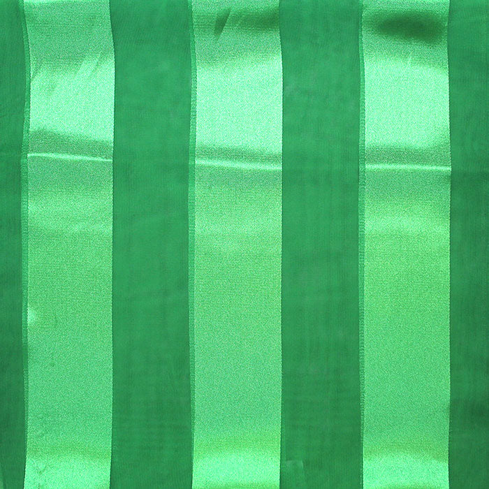 Beautiful Emerald Green Satin Striped Scarf