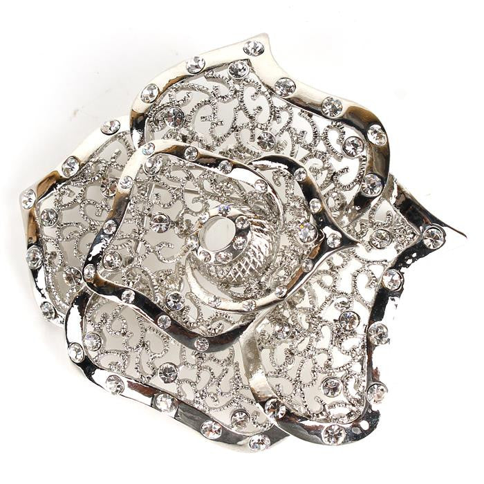 Beautiful Crystal Rose Brooch Pin for GREEKS