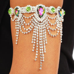 Crystal Arm Cuff in Emerald Green