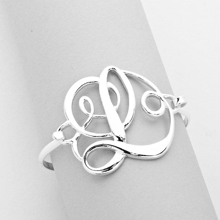 """L"" Monogram Bangle Bracelet(SALE)"