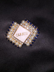 CARAT Diamond Pearl Pin of Elegance