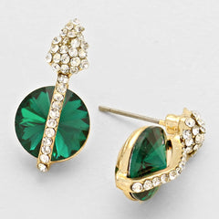 Austrian Crystal Round Designer Earrings