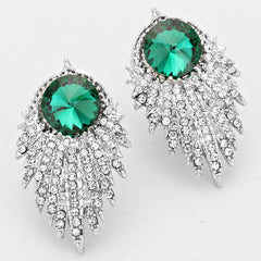 Striking Crystal Evening Earrings