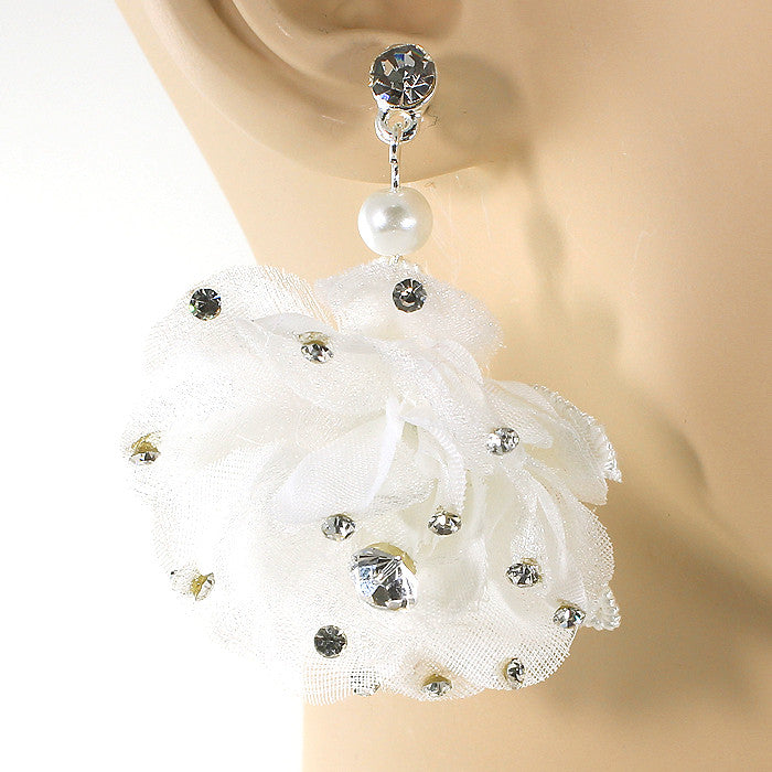 Rose Ball Drop Earrings