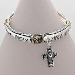 "Friendship & Spiritual Collection Bracelet "" We Can Do Everything Through HIM"""
