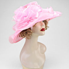 """Pink Ribbon"" Organza Hat"