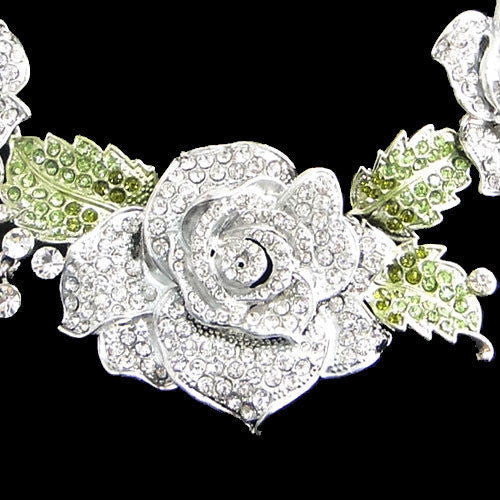 "Swarovski Rose Evening Necklace Set ""High End"""