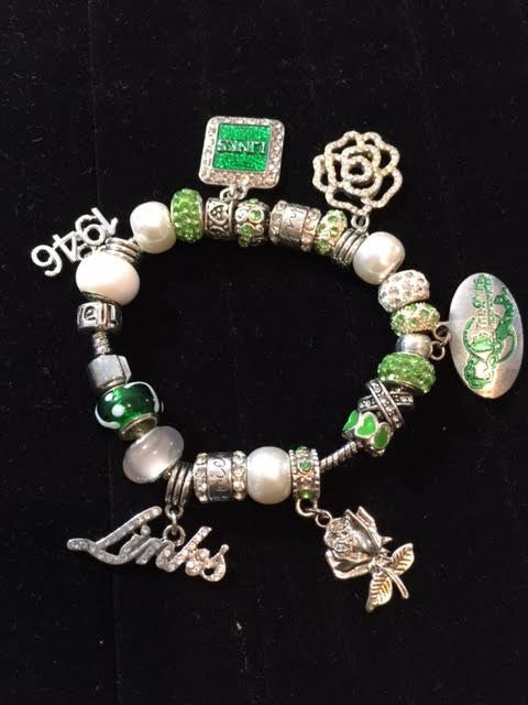 "LINKS ""PANDORA STYLE"" BRACELET ""High End"" (7 Free Charms & Beads)"