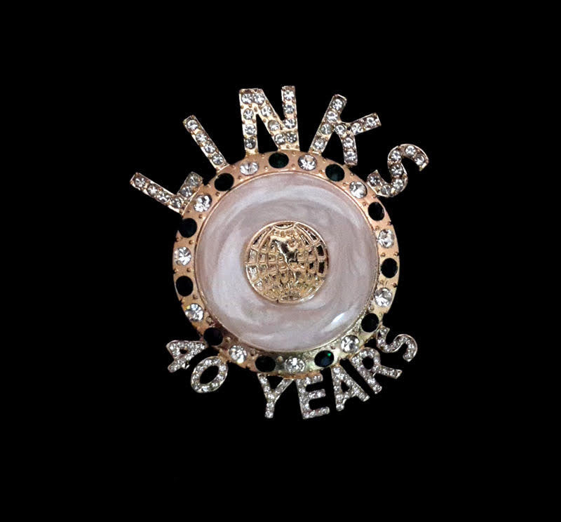 Beautiful Links 40 YEARS OF ELEGANCE and SERVICE Crystal PIN