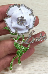 "Beautiful and Amazing"" Rose Brooch in Swarovski Crystals (AKA/CARATS/LINKS)"