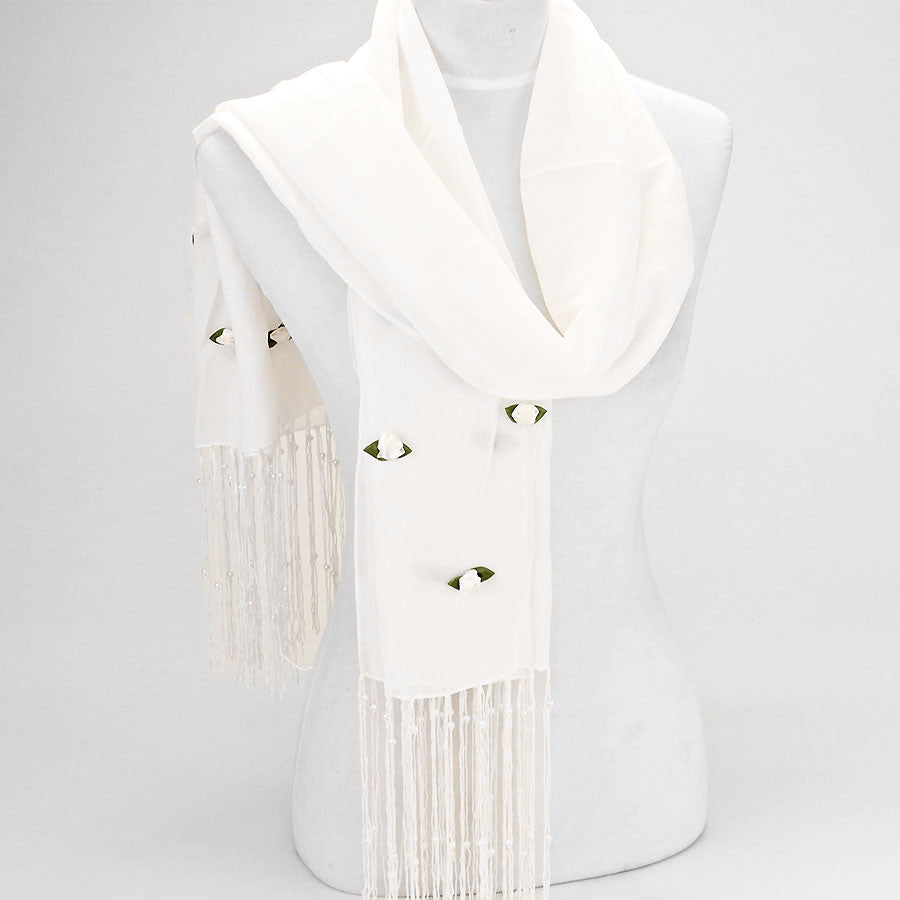 White (Ivory) Rose Scarf
