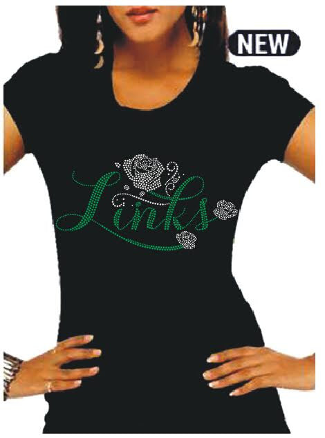 "LINKS ""Rose Buds"" Rhinestone Tee (NEW-High End) (70th Anniversary Design Only)"
