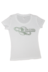 "Beautiful LINKS Logo Rhinestone Bling Tee ""High End"""