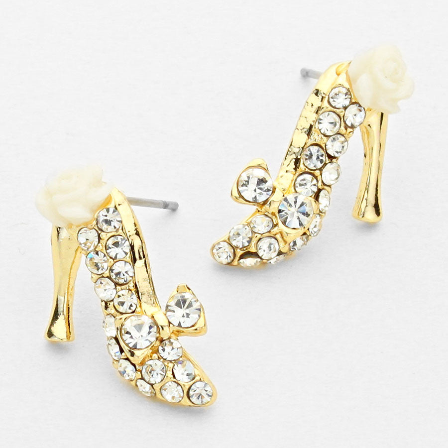 Crystal Rose Stiletto Shoe Earrings (NEW) – Beautiful Things ...