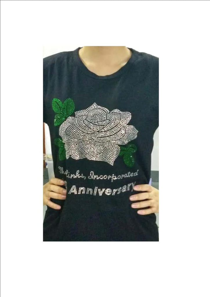 Links White Rose Tee 70th Anniversary Style Design Available