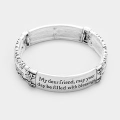 "Beautiful ""Friend's blessing"" stretch bracelet"
