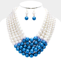 Beautiful  Multi-strand pearl necklace