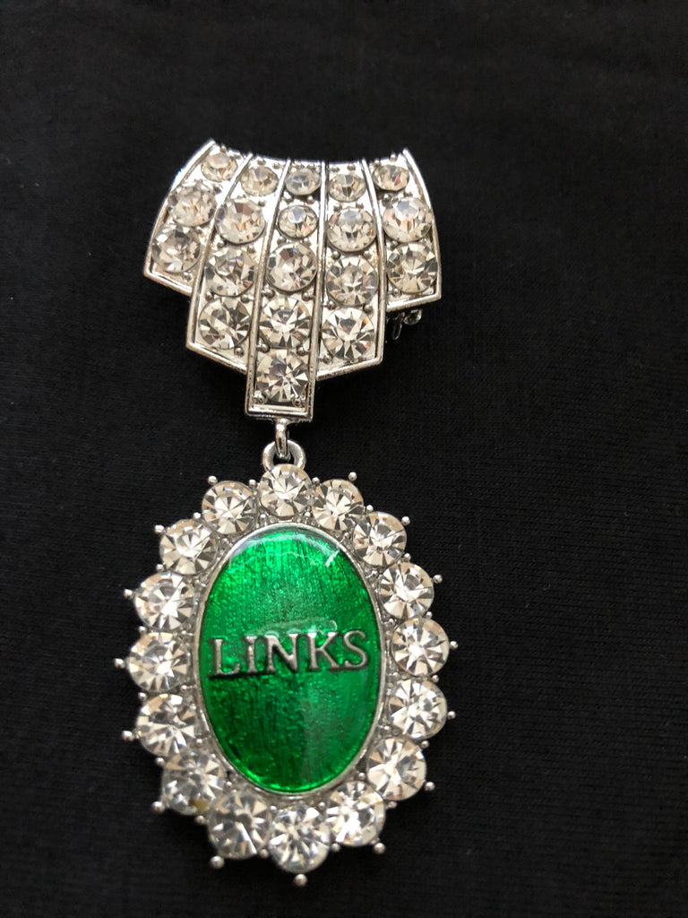 "Beautiful Links Crystal Pin ""High End"""