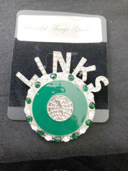 Beautiful LINKS Sisterhood of Service Logo Pin