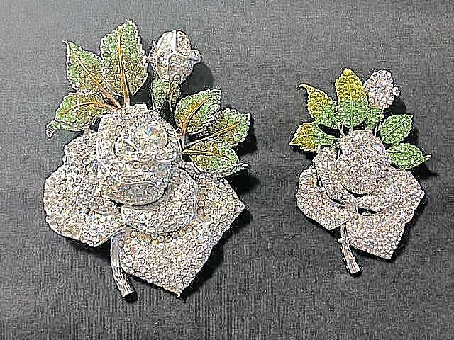 Swarovski Crystal High End Large Rose Brooch