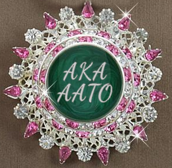 AKA Pink and Green Custom Chapter Pin (AATO Chapter Members Only Style) and CUSTOM CHAPTER PIN AVAILABLE