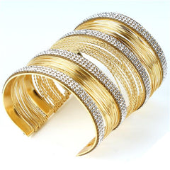 Designer Rhinestone Cuff Bangle