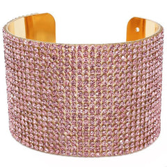 "Crystal Cuff Evening Bracelet ""High End"""