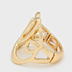 "Beautiful ""L"" Monogram Stretch Ring (NEW)"