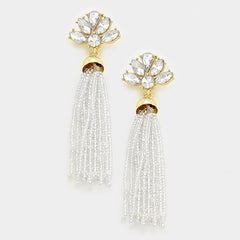 Beautiful Tassel & Crystal Earrings