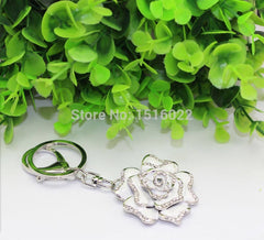 White Rose & Crystal Key Chains (New)